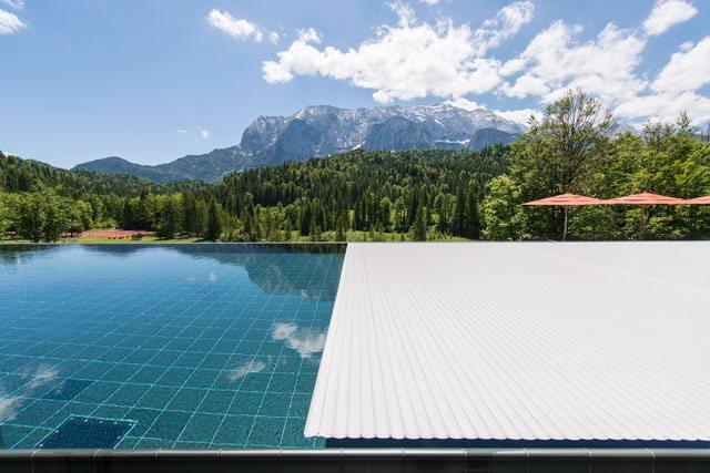 Referenzobjekt Rollo Solar Schwimmbadabdeckung